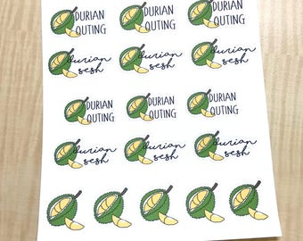 Durian Session Stickers