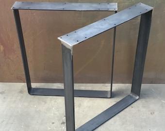 Metal table legs set of 2