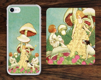 Sea fairy iPhone case with water princess riding on three fast fish across the ocean!