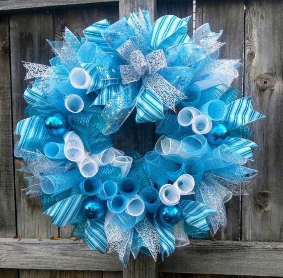 image 0 - Blue Christmas Wreath