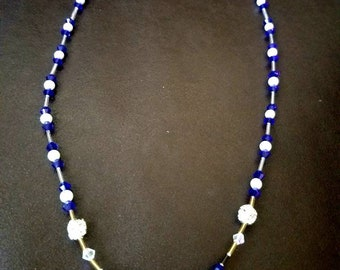 Swarovski crystals beads necklace