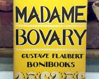 Gustave Flaubert, Madame Bovary, Rare Vintage Softcover Book (1930)