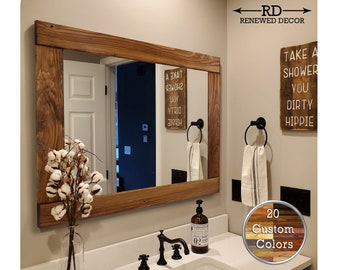 Farmhouse Bathroom Mirror Etsy