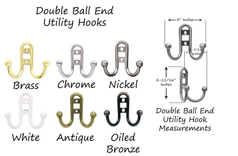 Towel Hook Hat Rack Home Office Organization Coat Hook 20 Paint Colors Clothing Rack Countryside Double Utility Hook Rack Wall Hook