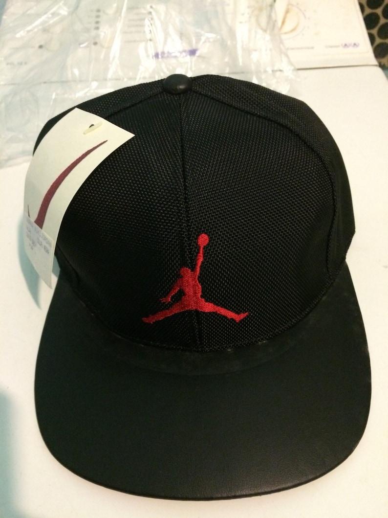 eb3e8b65c9b295 Very Rare Vintage Cap Hat Nike Air Jordan Michael Leather 90