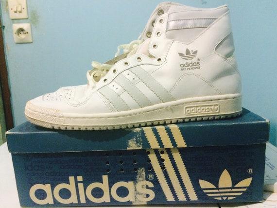 Zeer zeldzaam! Vintage Sneakers schoenen Adidas decennium Pat in afwachting van 80 s Sz 11UK nieuw! HTF!