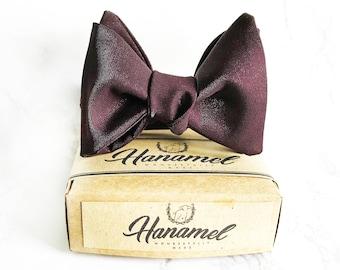 Hanamel Handmade Wine Red Burgundy Bow Ties, Wedding Burgundy Bow Tie, boys bow tie, Mens Burgundy bowtie, Groomsmen bowtie, Classy Bow Tie