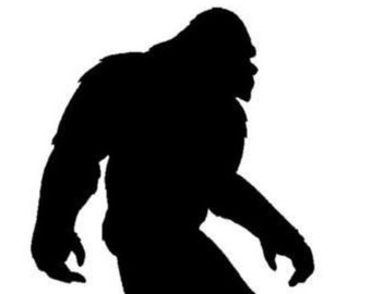 Pack of 3 Bigfoot Stencils Made From 4 Ply Mat Board 11x14, 8x10 and 5x7 -Package includes One of Each Size