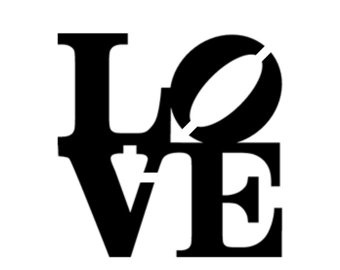Pack of 3 Love Stencils Made from 4 Ply Mat Board, 18x24, 16x20 and 11x14 -Package includes One of Each Size