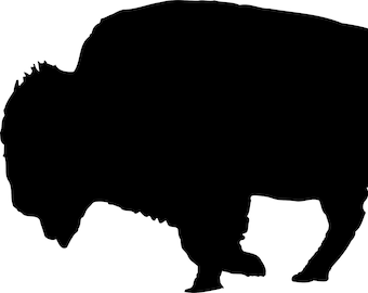 Bison Stencil Made from 4 Ply Mat Board-Choose a Size-From 5x7 to 24x36
