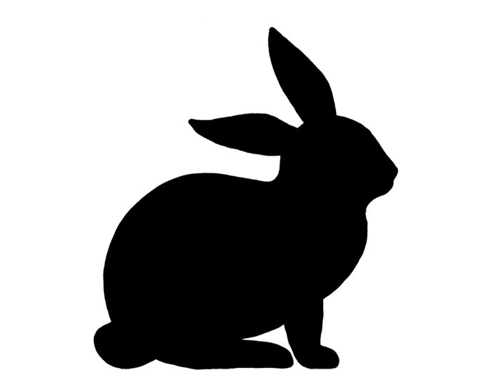 Pack of 3 Rabbit Style 2 Stencils Made from 4 Ply Mat Board, 16x20, 11x14 and 8x10 -Package includes One of Each Size
