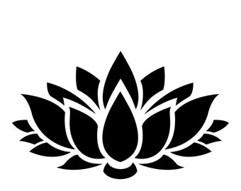 Pack of 3 Lotus Flower Stencils Made from 4 Ply Mat Board, 18x24, 16x20 and 11x14 -Package includes One of Each Size