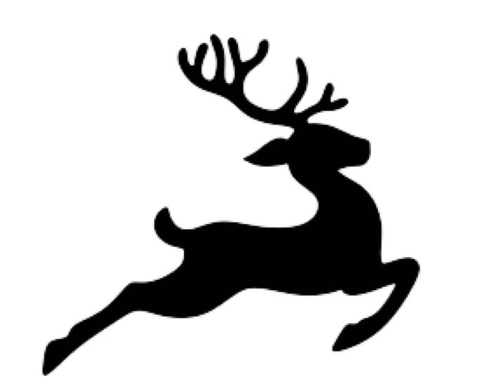 Flying Reindeer Stencil Made from 4 Ply Mat Board-Choose a Size-From 5x7 to 24x36
