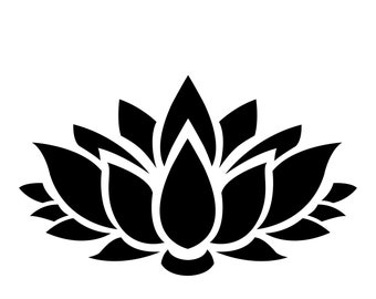 Pack of 3 Lotus Flower Stencils Made from 4 Ply Mat Board, 16x20, 11x14 and 8x10 -Package includes One of Each Size