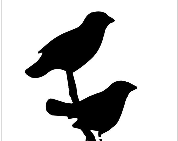 Pack of 3 Two Bird on Branch Stencils Made from 4 Ply Mat Board, 11x14, 8x10 and 5x7 -Package includes One of Each Size