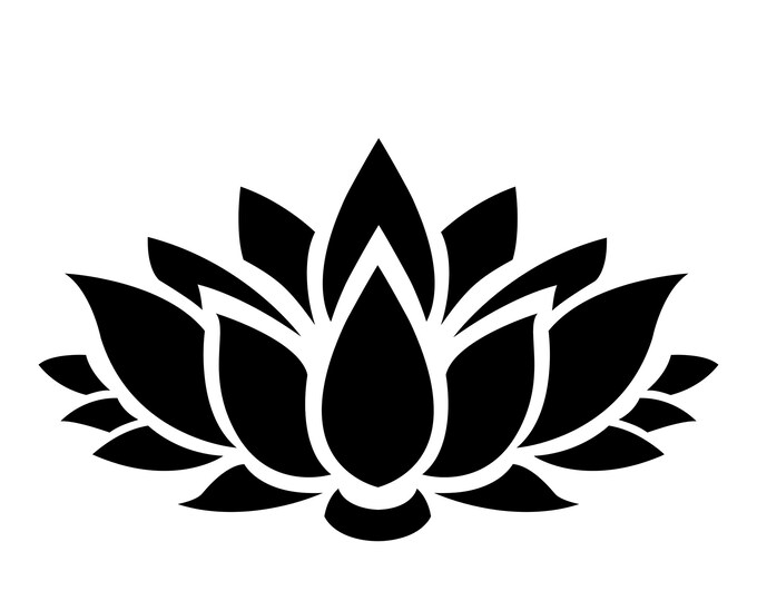 Pack of 3 Lotus Flower Stencils Made from 4 Ply Mat Board, 11x14, 8x10 and 5x7 -Package includes One of Each Size