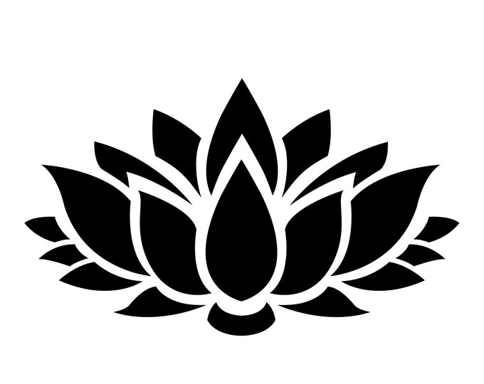 Lotus Flower Stencil Made from 4 Ply Mat Board-Choose a Size-From 5x7 to 24x36