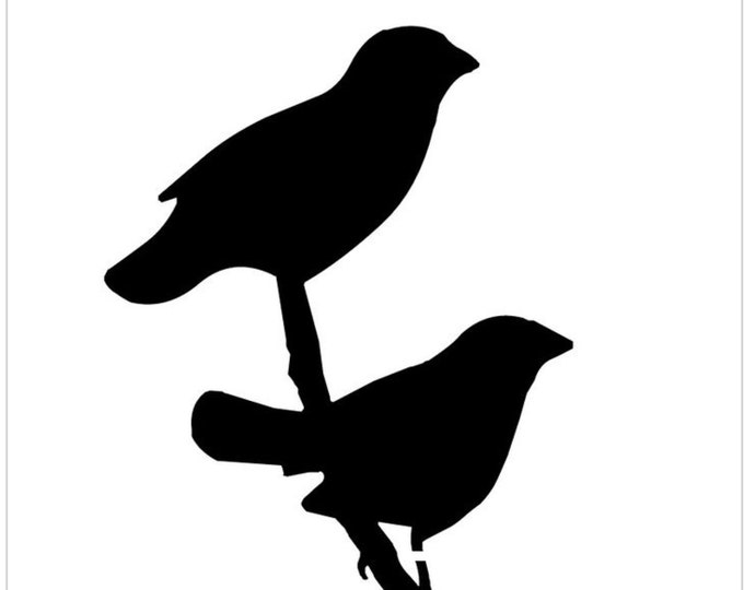 Pack of 3 Two Bird on Branch Stencils Made from 4 Ply Mat Board, 18x24, 16x20 and 11x14 -Package includes One of Each Size
