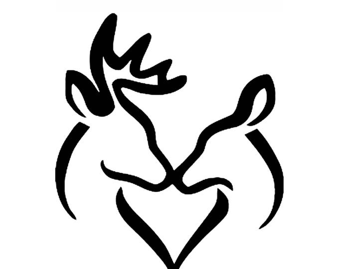 Pack of 3 Buck and Doe Kissing Stencils Made from 4 Ply Mat Board, 11x14, 8x10 and 5x7 -Package includes One of Each Size