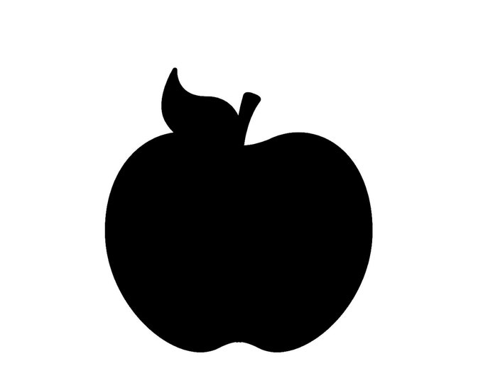 Apple Stencil Made from 4 Ply Mat Board-Choose a Size-From 5x7 to 24x36