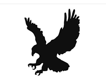 Eagle Style 2 Stencil Made from 4 Ply Mat Board-Choose a Size-From 5x7 to 24x36