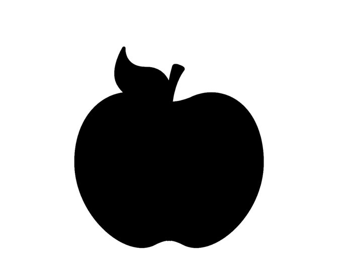 Pack of 3 Apple Stencils Made from 4 Ply Mat Board, 18x24, 16x20 and 11x14 -Package includes One of Each Size