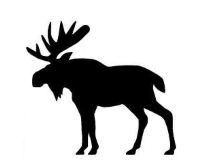 Pack of 3 Moose Style 3 Stencils Made from 4 Ply Mat Board, 16x20, 11x14 and 8x10 -Package includes One of Each Size