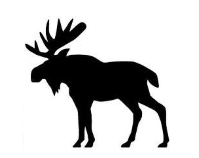Pack of 3 Moose Style 3 Stencils Made from 4 Ply Mat Board, 18x24, 16x20 and 11x14 -Package includes One of Each Size