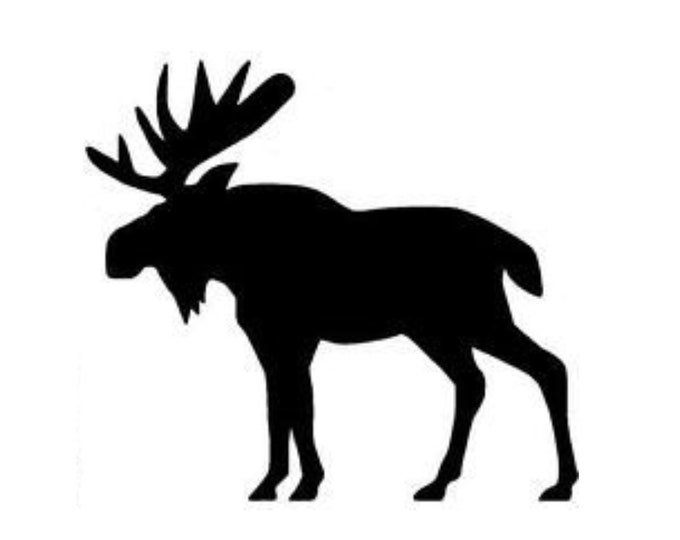 Pack of 3 Moose Style 3 Stencils Made from 4 Ply Mat Board, 11x14, 8x10 and 5x7 -Package includes One of Each Size