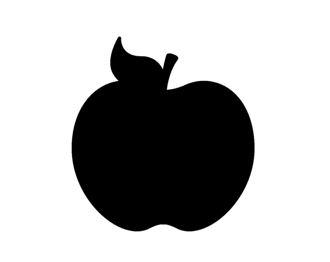 Pack of 3 Apple Stencils Made from 4 Ply Mat Board, 16x20, 11x14 and 8x10 -Package includes One of Each Size
