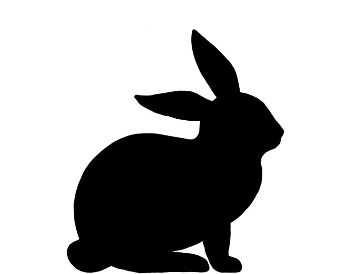 Pack of 3 Rabbit Style 2 Stencils Made from 4 Ply Mat Board, 18x24, 16x20 and 11x14 -Package includes One of Each Size