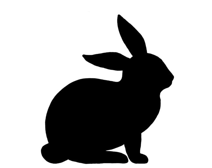 Pack of 3 Rabbit Style 2 Stencils Made from 4 Ply Mat Board, 11x14, 8x10 and 5x7 -Package includes One of Each Size