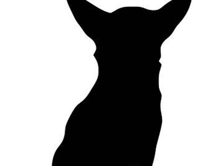 Pack of 3 Chihuahua Style 1 Stencils Made from 4 Ply Mat Board, 11x14, 8x10 and 5x7 -Package includes One of Each Size