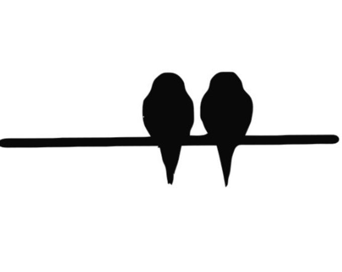 Pack of 3 Birds on Wire-2 Birds Stencils Made from 4 Ply Mat Board, 11x14, 8x10 and 5x7 -Package includes One of Each Size