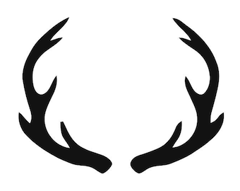 image relating to Printable Deer Antlers identify Deer antler stencil Etsy