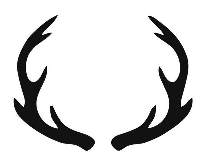 Pack of 3 Mule Deer Antlers Stencils Made from 4 Ply Mat Board, 16x20, 11x14 and 8x10 -Package includes One of Each Size