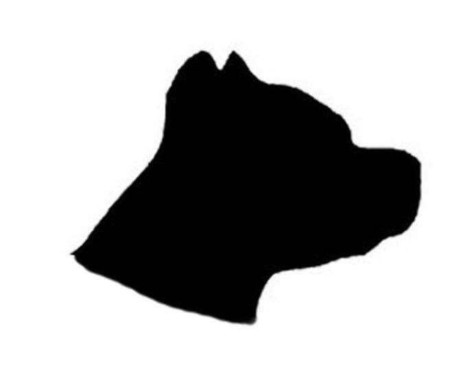 Pack of 3 Pitbull Head Only Stencils Made from 4 Ply Mat Board, 11x14, 8x10 and 5x7 -Package includes One of Each Size