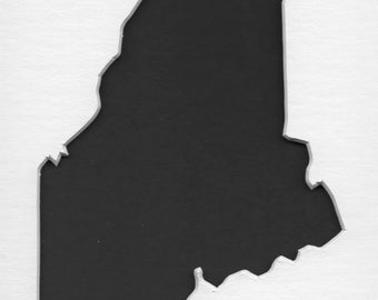 Pack of 3 Maine State Stencils Made from 4 Ply Mat Board, 5x7, 4x6 and 3x5 -Package includes One of Each Size