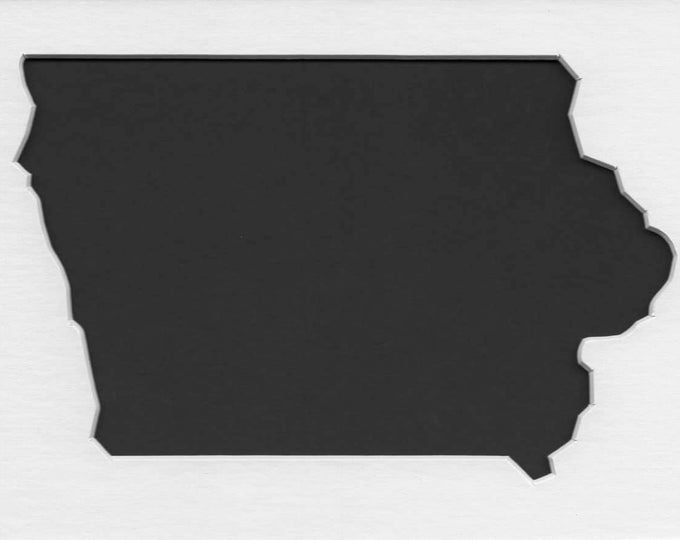 Pack of 3 Square Iowa State Stencils Made From 4 Ply Mat Board 12x12, 8x8 and 6x6 -Package includes One of Each Size