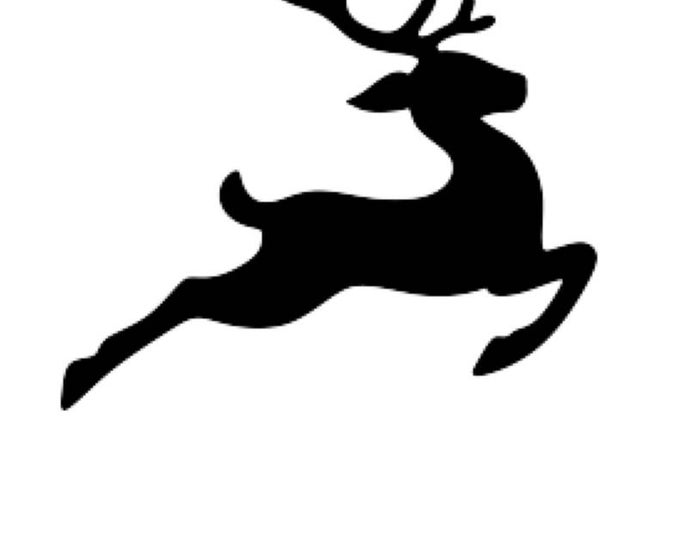 Pack of 3 Flying Reindeer Stencils, 11x14, 8x10 and 5x7 Made From 4 Ply Matboard