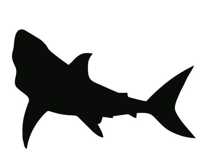 Shark Stencil Made from 4 Ply Mat Board-Choose a Size-From 5x7 to 24x36