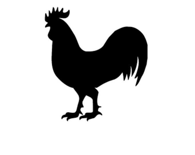 Rooster Style 2 Stencil Made from 4 Ply Mat Board-Choose a Size-From 5x7 to 24x36
