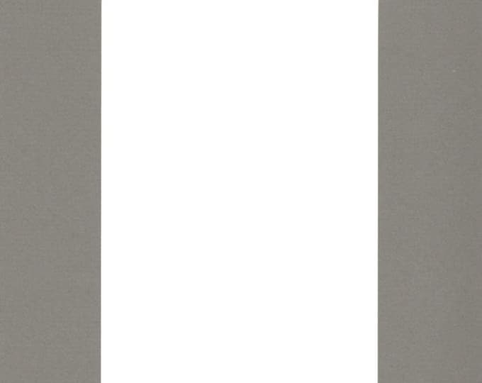 Pack of (2) 16x20 Acid Free White Core Picture Mats cut for 11x14 Pictures in Sage Green