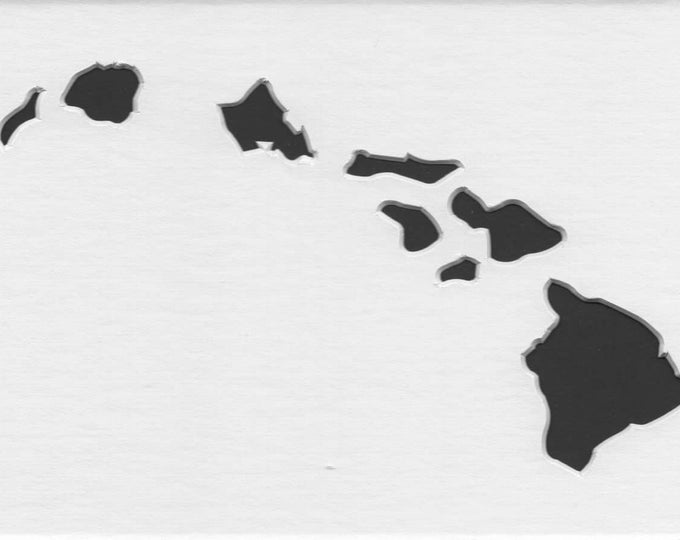 Pack of 3 Hawaii State Stencils Made From 4 Ply Mat Board 11x14, 8x10 and 5x7 -Package includes One of Each Size