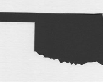 Pack of 3 Square Oklahoma State Stencils Made From 4 Ply Mat Board 12x12, 8x8 and 6x6 -Package includes One of Each Size