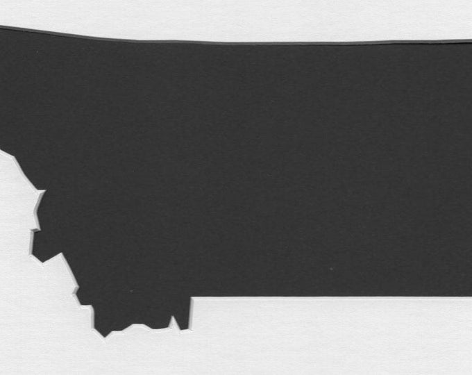 Pack of 3 Montana State Stencils, Made from 4 Ply Mat Board 18x24, 16x20 and 11x14