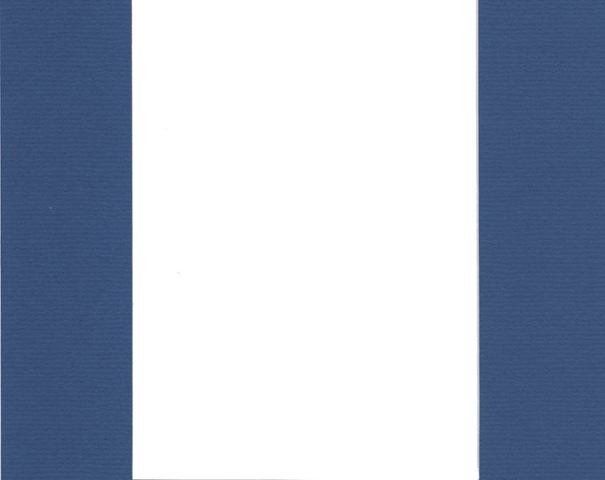 Pack of (2) 24x36 Acid Free White Core Picture Mats cut for 20x30 Pictures in Royal Blue