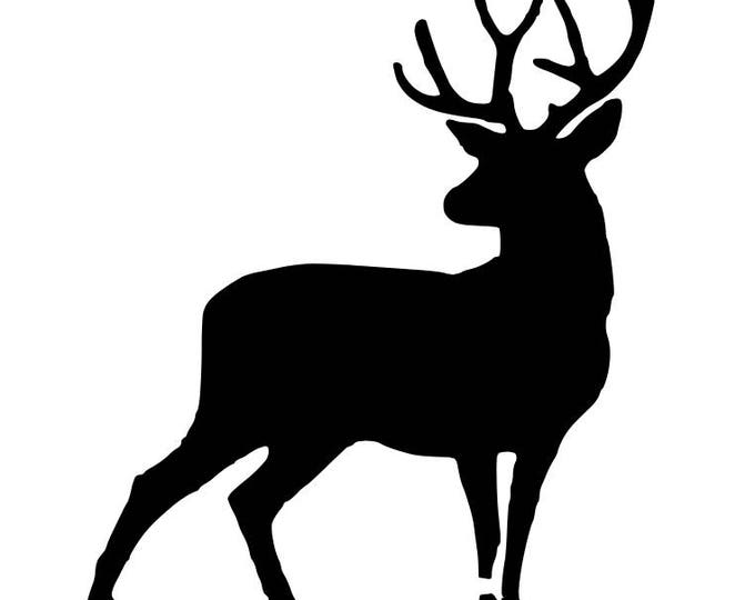 Pack of 3 Full Deer-Buck Stencils Made from 4 Ply Mat Board, 11x14, 8x10 and 5x7 -Package includes One of Each Size