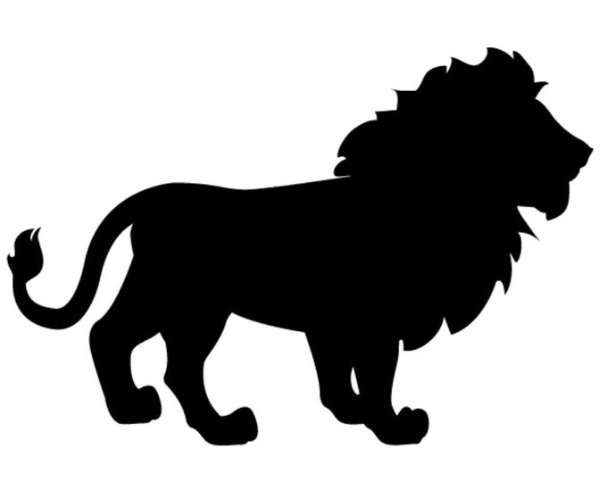 Lion Stencil Made from 4 Ply Mat Board-Choose a Size-From 5x7 to 24x36