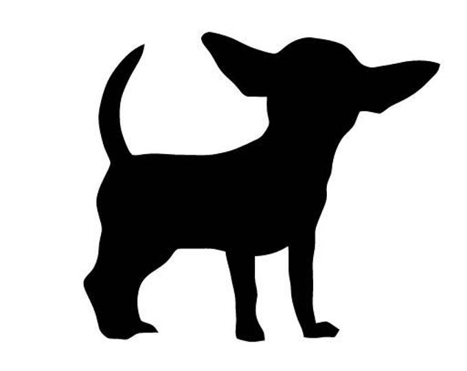 Pack of 3 Chihuahua Style 4 Stencils Made from 4 Ply Mat Board, 11x14, 8x10 and 5x7 -Package includes One of Each Size